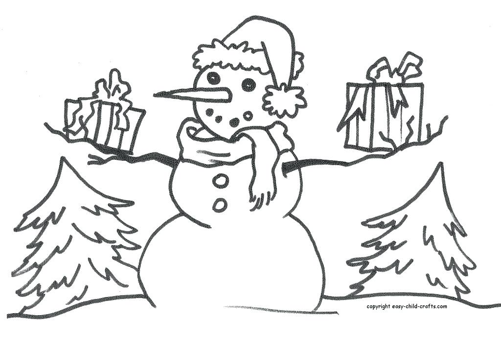 1024x702 Blank Snowman Coloring Also Blank Snowman Coloring Pages