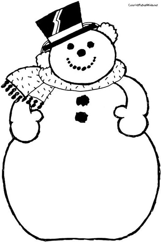 525x788 Blank Snowman Coloring Page