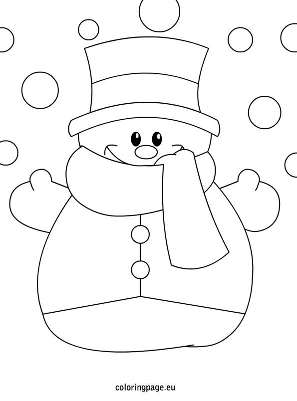 595x804 Blank Snowman Coloring Page Tags Snowman Coloring Page Seniors