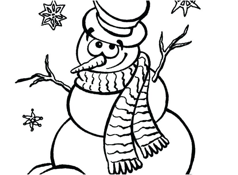 827x609 Free Snowman Coloring Pages