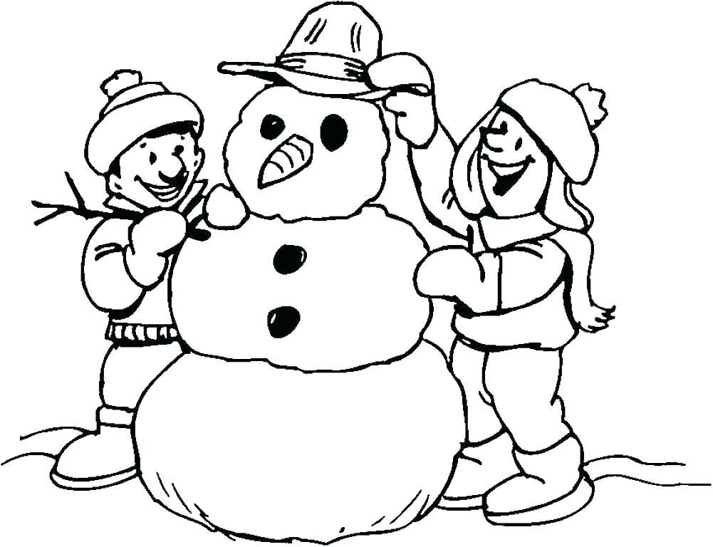 1001x768 Snowman Coloring Pages