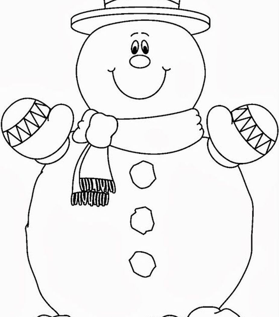 925x1050 Cool Jolly Snowman Blanks Coloring Free Coloring Pages