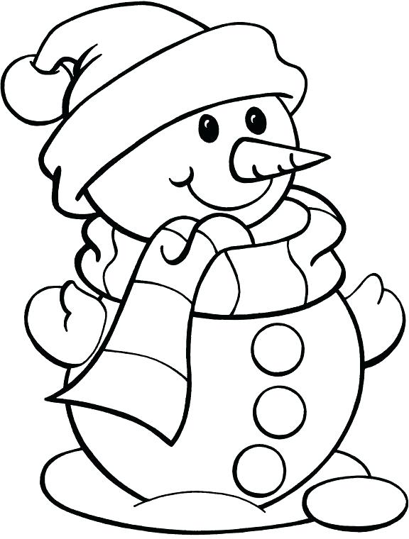 576x760 Gigantic Snowman Coloring Pages Page Christmas