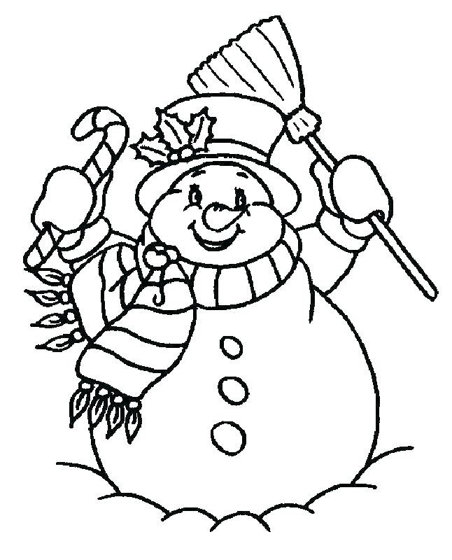 646x800 Snowman Color Pages Snowman Coloring Template And Printable