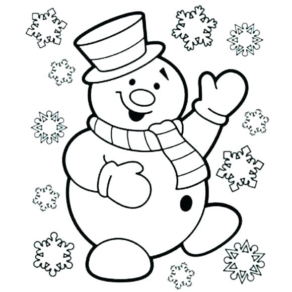 580x580 Snowman Coloring Pages Printable Free Printable Winter Coloring