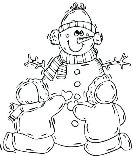 463x540 Coloring Pages Snowman