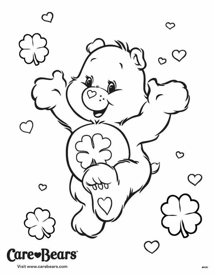 736x945 Good Luck Bear Coloring Page Care Bears