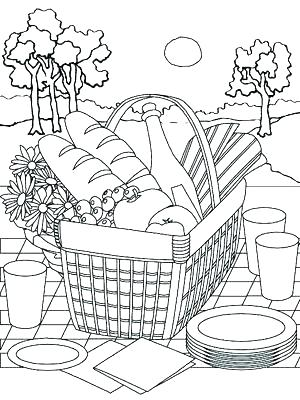 300x400 Picnic Coloring Page Picnic Coloring Page Picnic Coloring Pages