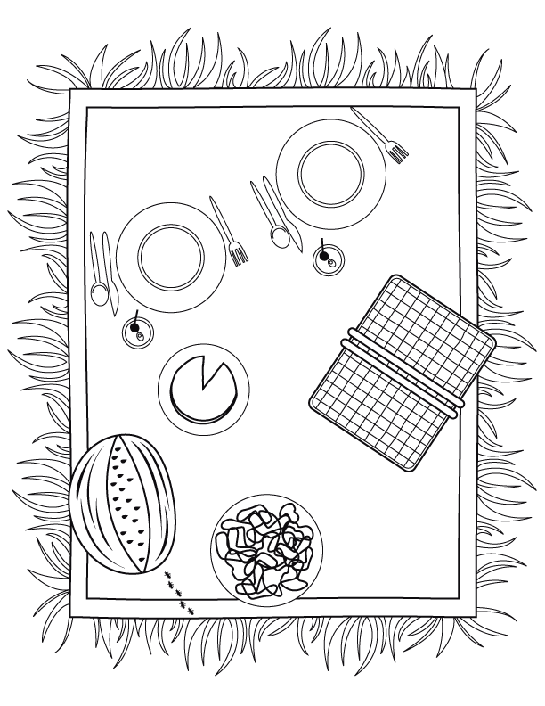612x792 Summertime Coloring Pages Make And Takes