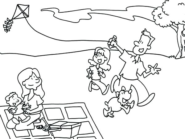 600x450 Blanket Coloring Page Picnic Coloring Page Father And His Daughter