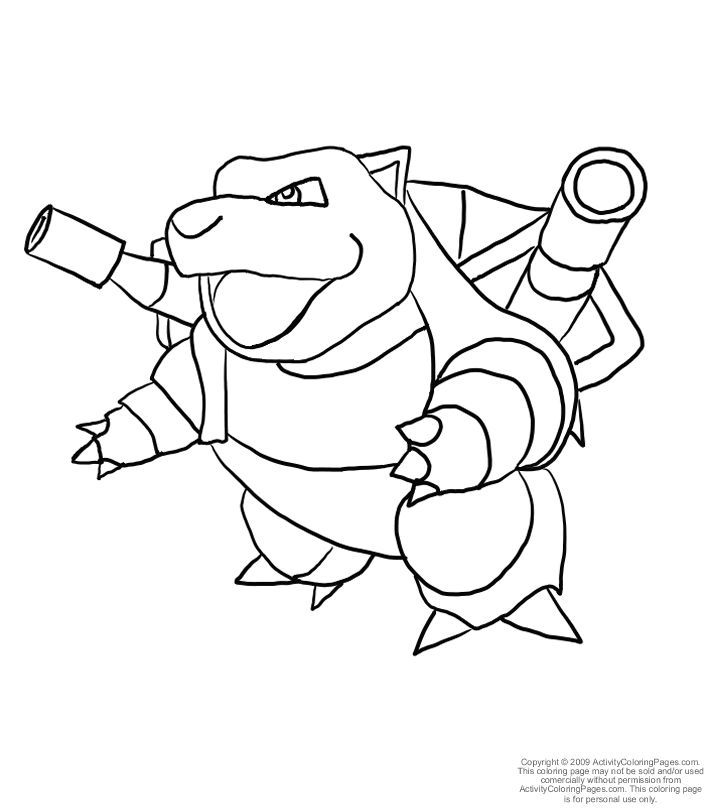 709x808 Blastoise Coloring Page Images Free Coloring Pages
