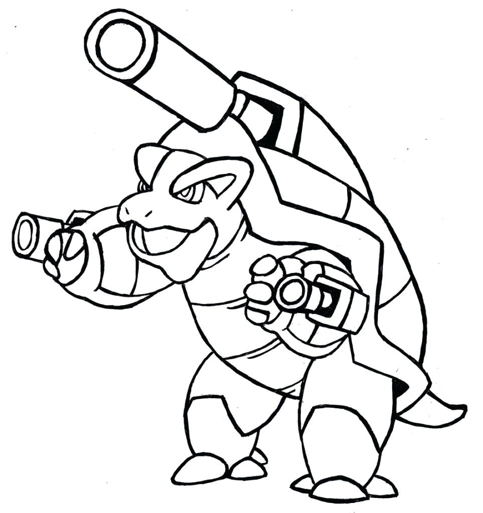 963x1024 Blastoise Coloring Page Pages