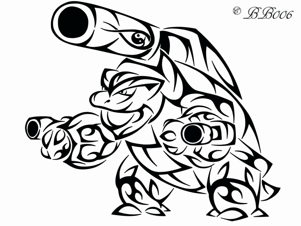970x728 Blastoise Coloring Page Stock Pokemon Coloring Pages Blastoise
