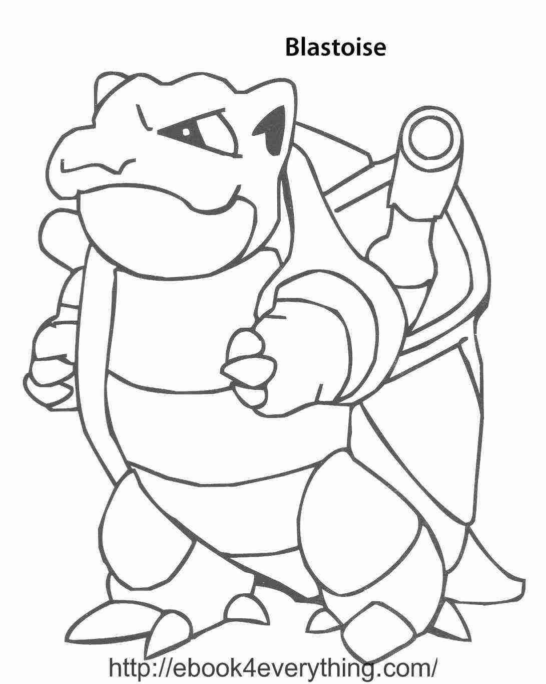 1091x1365 Mega Blastoise Coloring Page Download Pokemon Pages Cartoons Showy