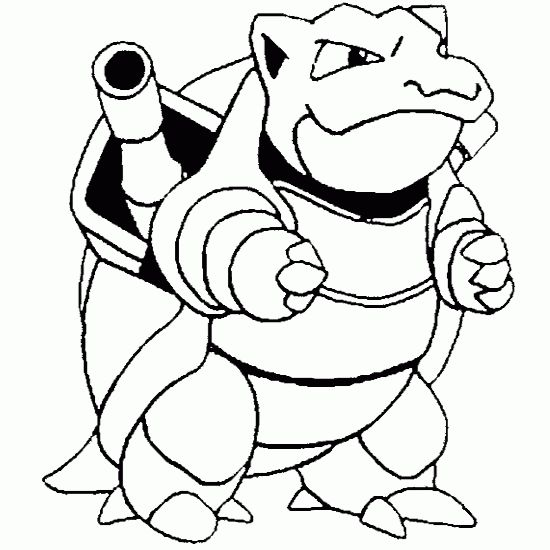 550x550 Pokemon Coloring Sheets Free Pokemon Coloring Pages Blastoise