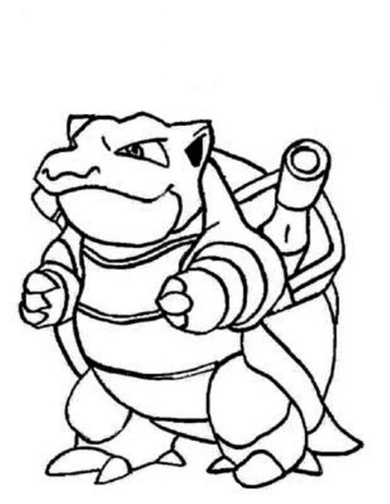 792x1024 Blastoise Coloring Page
