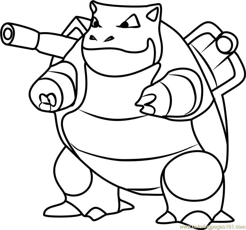 800x748 Blastoise Coloring Page Blastoise Pokemon Go Coloring Page Free