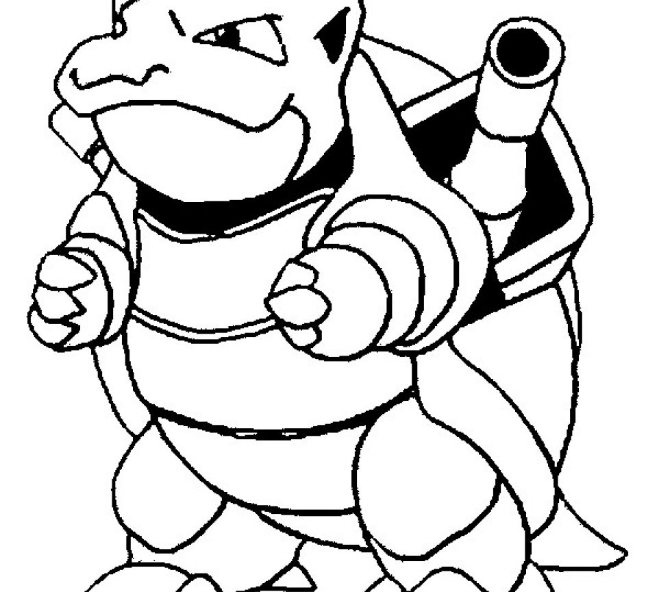 962x864 Blastoise Coloring Page Cartoon Pokemon Pages Cartoons Sheets Mega