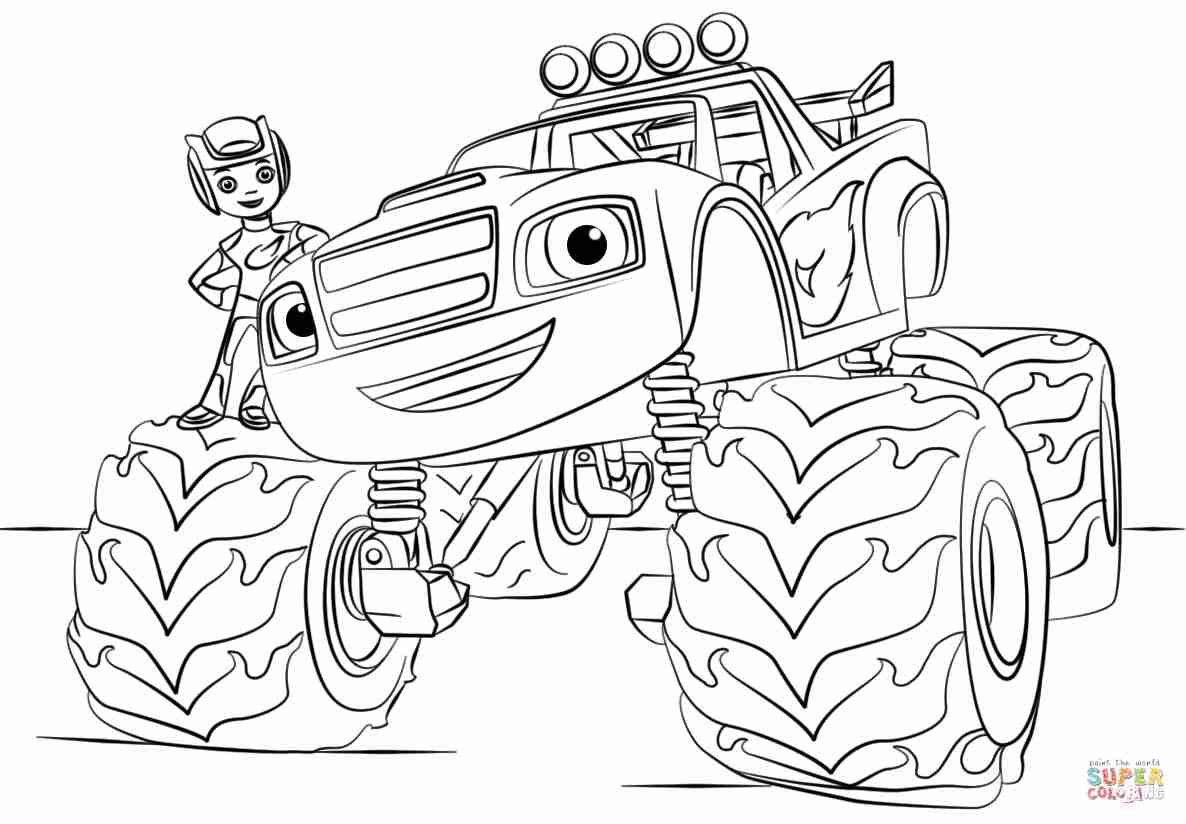Blaze And The Monster Machines Coloring Pages To Print At Getdrawings Free Download