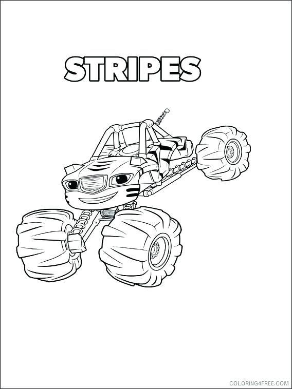 568x758 Blaze The Monster Truck Coloring Pages As Well As Blaze
