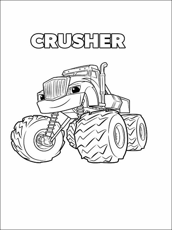 568x758 Blaze And The Monster Machines Coloring Pages Coloring Pages