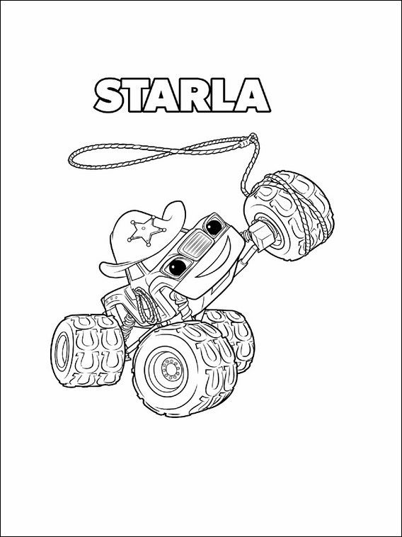568x758 Blaze And The Monster Machines Coloring Pages Blaze