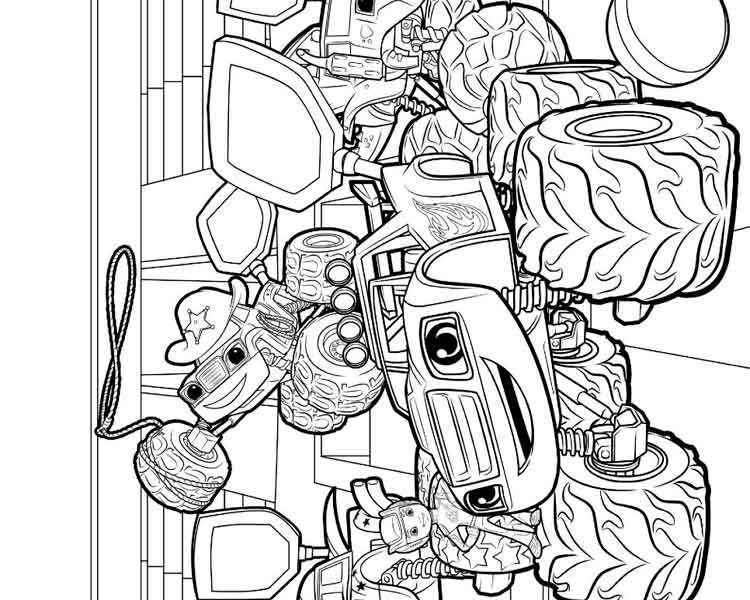750x600 Charming Design Blaze Coloring Pages Blaze And The Monster
