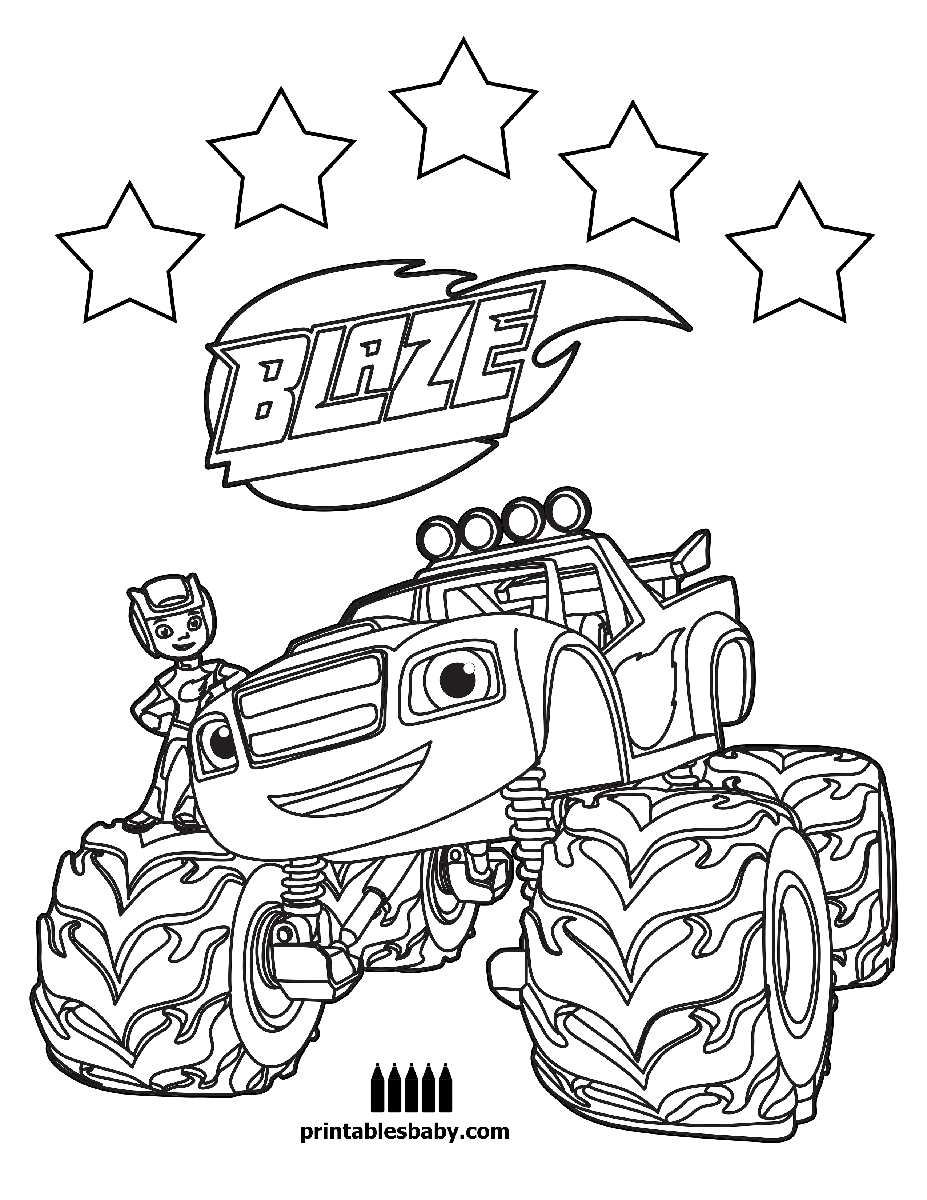 927x1200 Coloring Pages For Boys Blaze Printable Kids Amazing