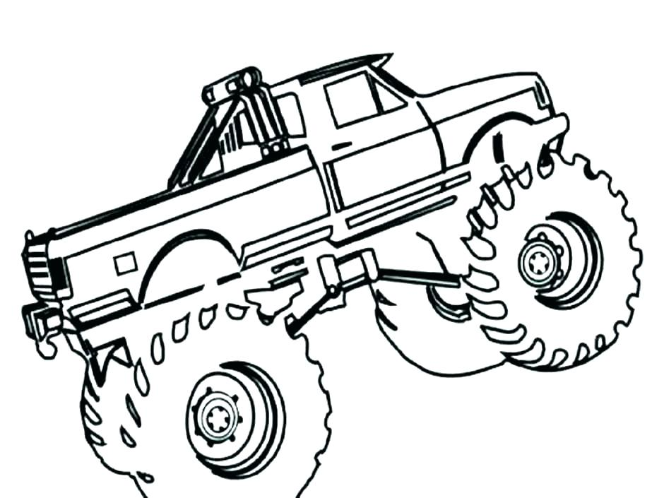 940x705 Coloring Pages Of Monster Trucks Download Grave Digger Monster