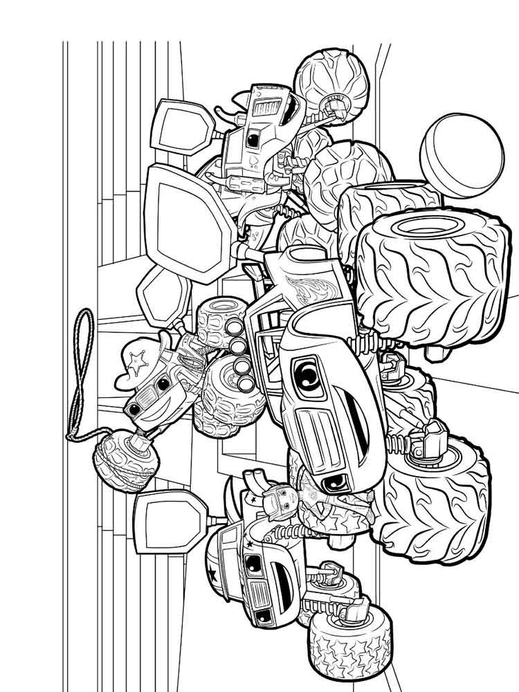 750x1000 Innovative Ideas Blaze And The Monster Machines Coloring Pages