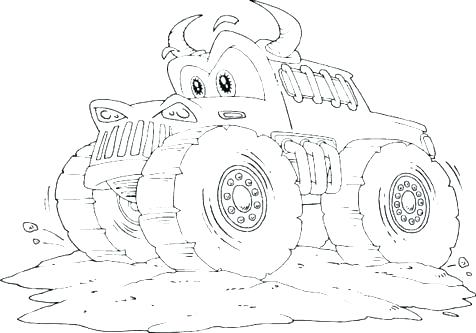 476x333 Monster Truck Coloring Pages Printable Monster Truck Coloring Page