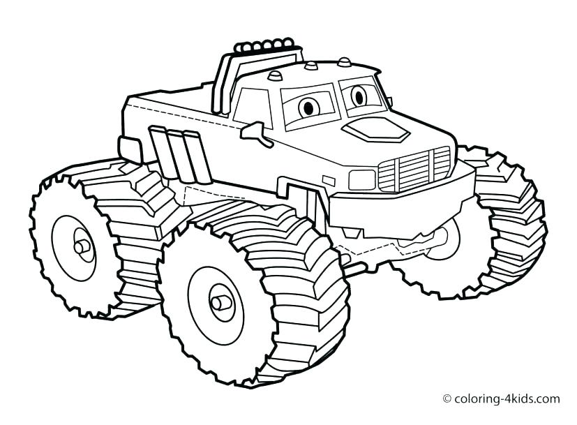 827x609 Printable Truck Coloring Pages Blaze Monster Truck Colouring Pages