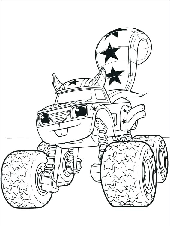 567x754 Blaze And Monster Machines Coloring Pages Toger Blaze