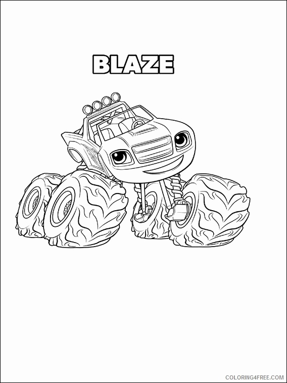 568x758 Lovely Of Blaze And The Monster Machine Coloring Pages Stock