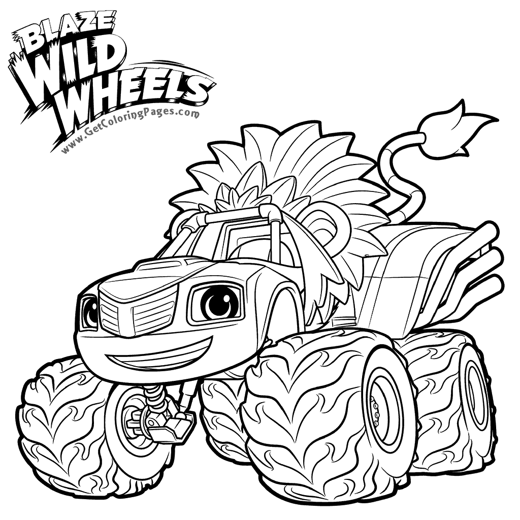 1024x1024 Blaze Coloring Pages