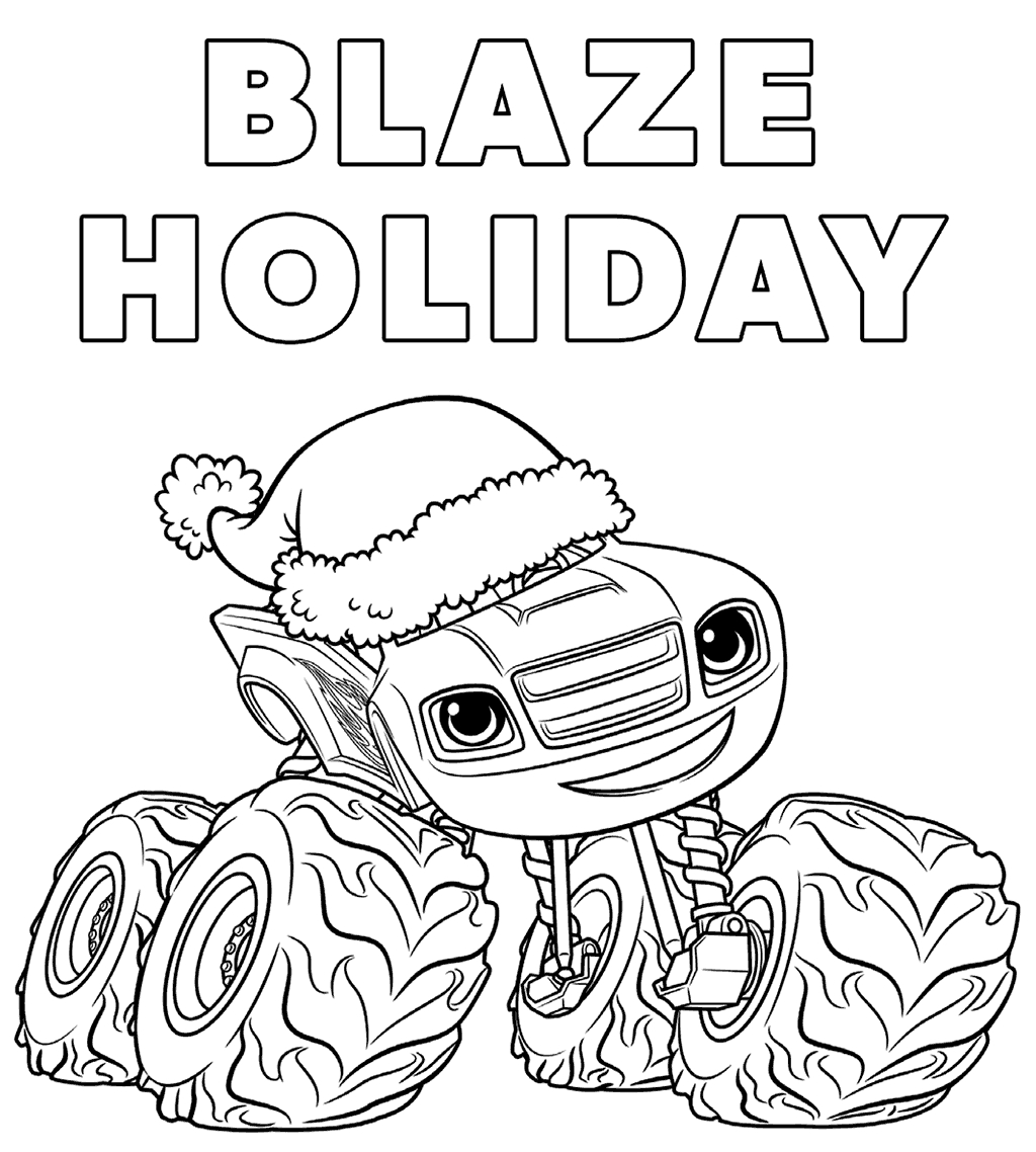 1024x1138 Blaze Coloring Pages To Print Printable