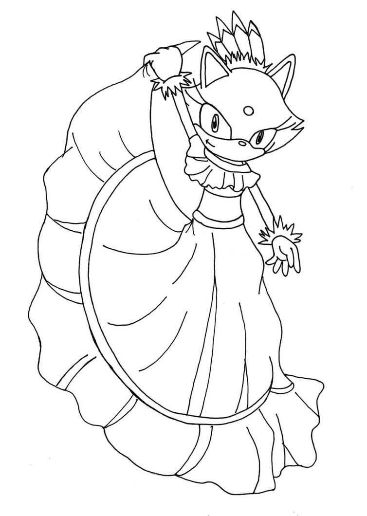 754x1060 Blaze The Cat Coloring Pages