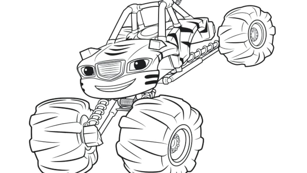1024x576 Astonishing Design Blaze Coloring Pages Blaze And The Monster