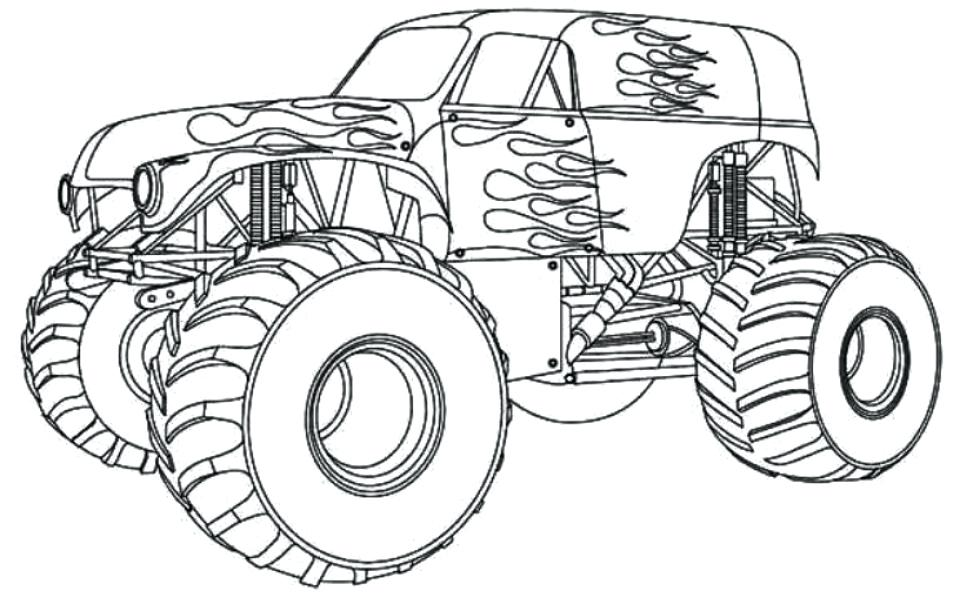 960x611 Monster Truck Blaze Coloring Pages And Free Monster Truck Coloring