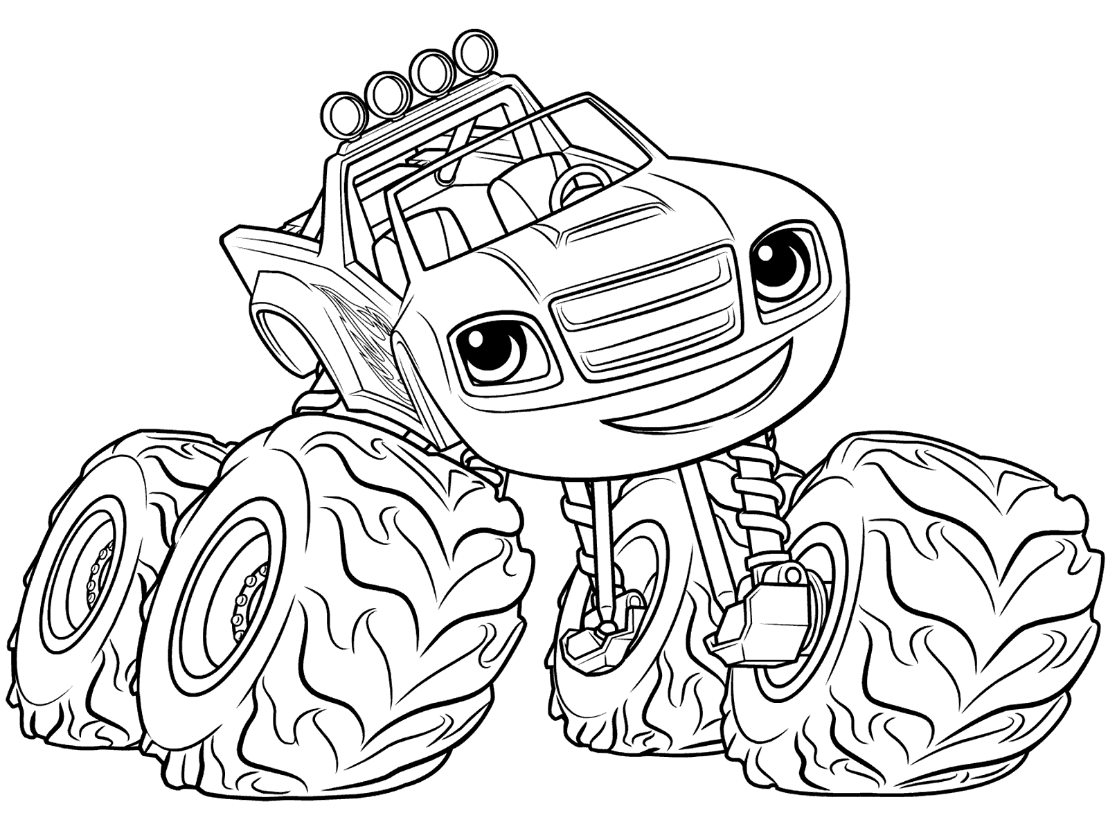 1600x1200 Printable Blaze Monster Truck Coloring Pages
