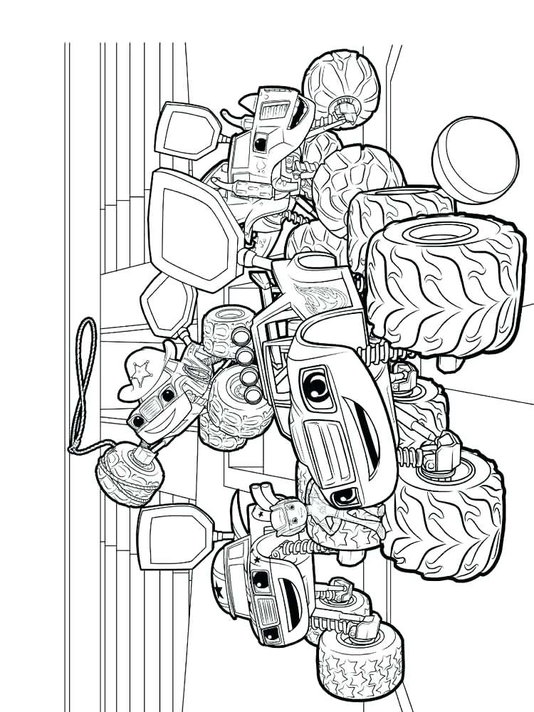 750x1000 Blaze And Monster Machine Coloring Pages Also Blaze