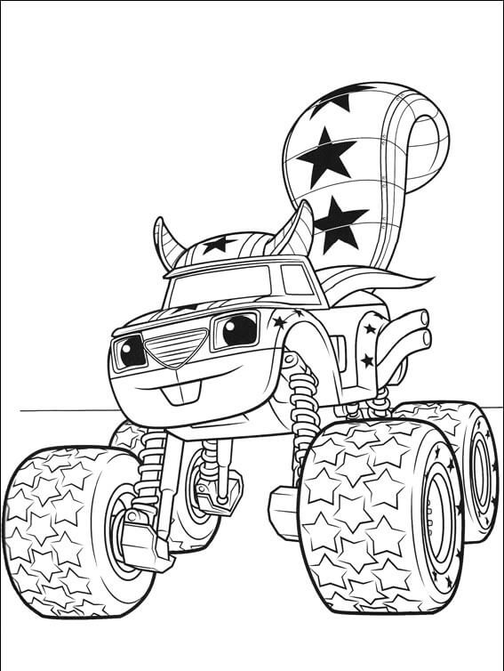 567x754 Top Blaze And The Monster Machines Coloring Pages