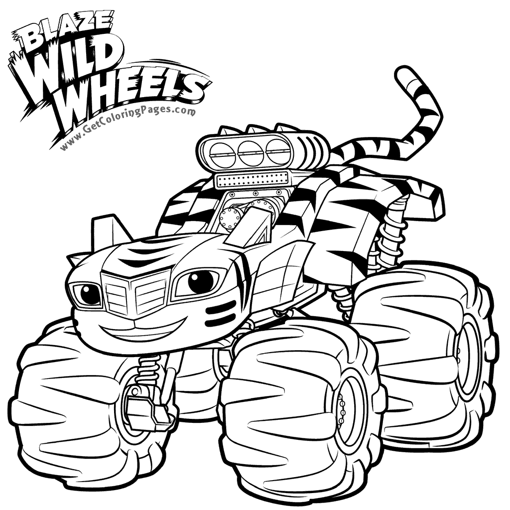 1024x1024 Top Blaze And The Monster Machines Coloring Pages