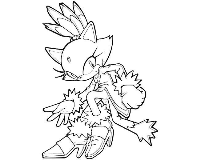 640x533 Blaze Sonic Coloring Page Coloring Pages Craft