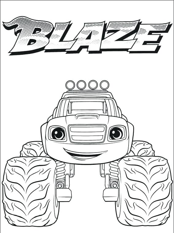 567x759 Blaze And The Monster Machine Coloring Pages Machines Printable