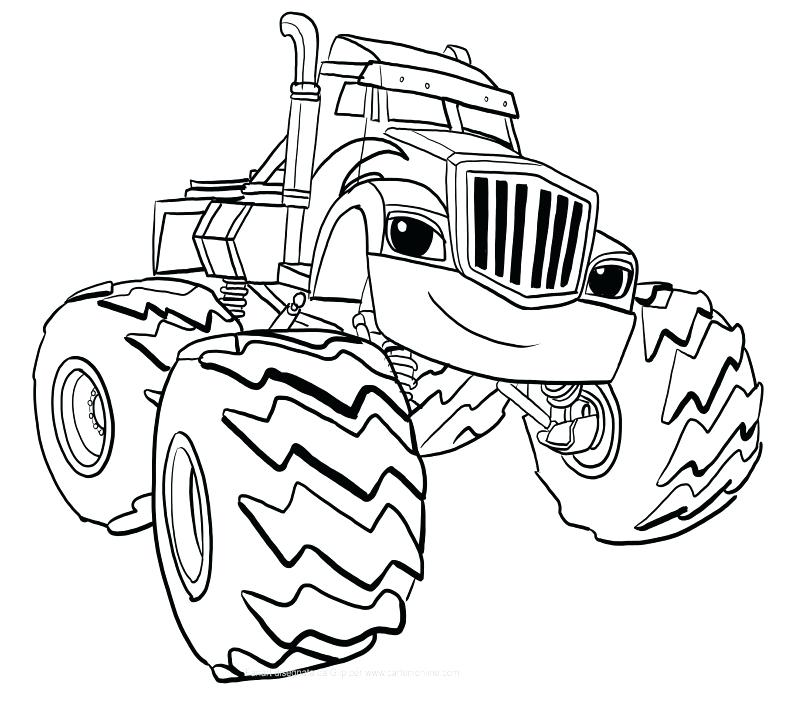 791x709 Blaze And The Monster Machine Coloring Pages Or Crusher Of Blaze