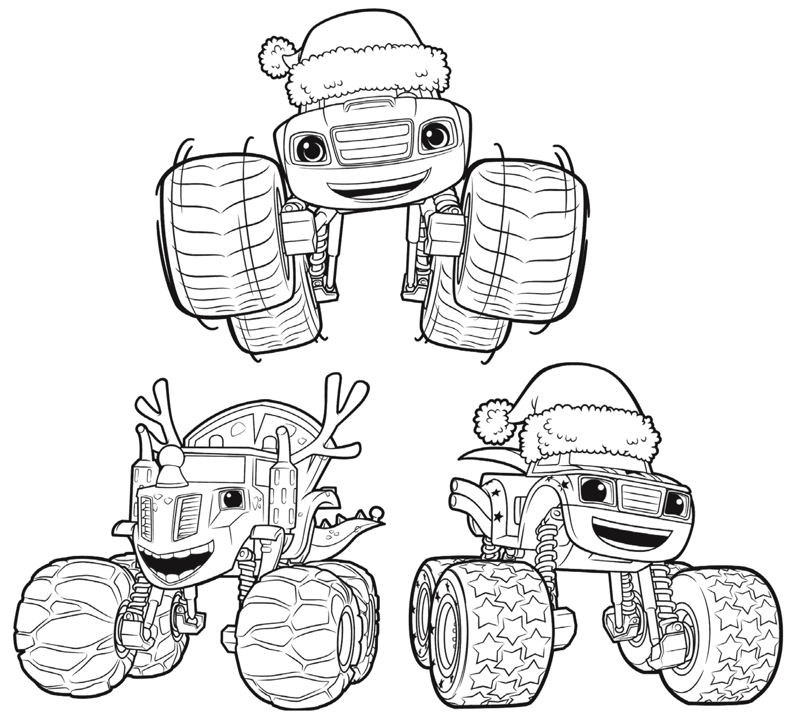 1600x1440 Blaze And The Monster Machines Coloring Pages