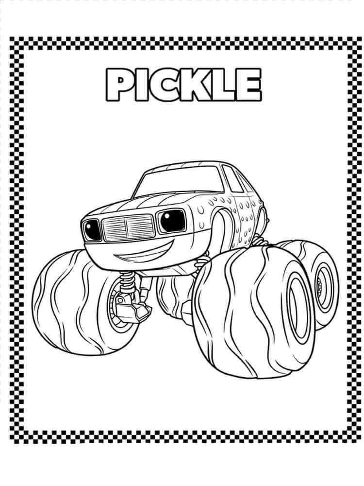750x1000 Blaze And The Monster Machines Coloring Pages