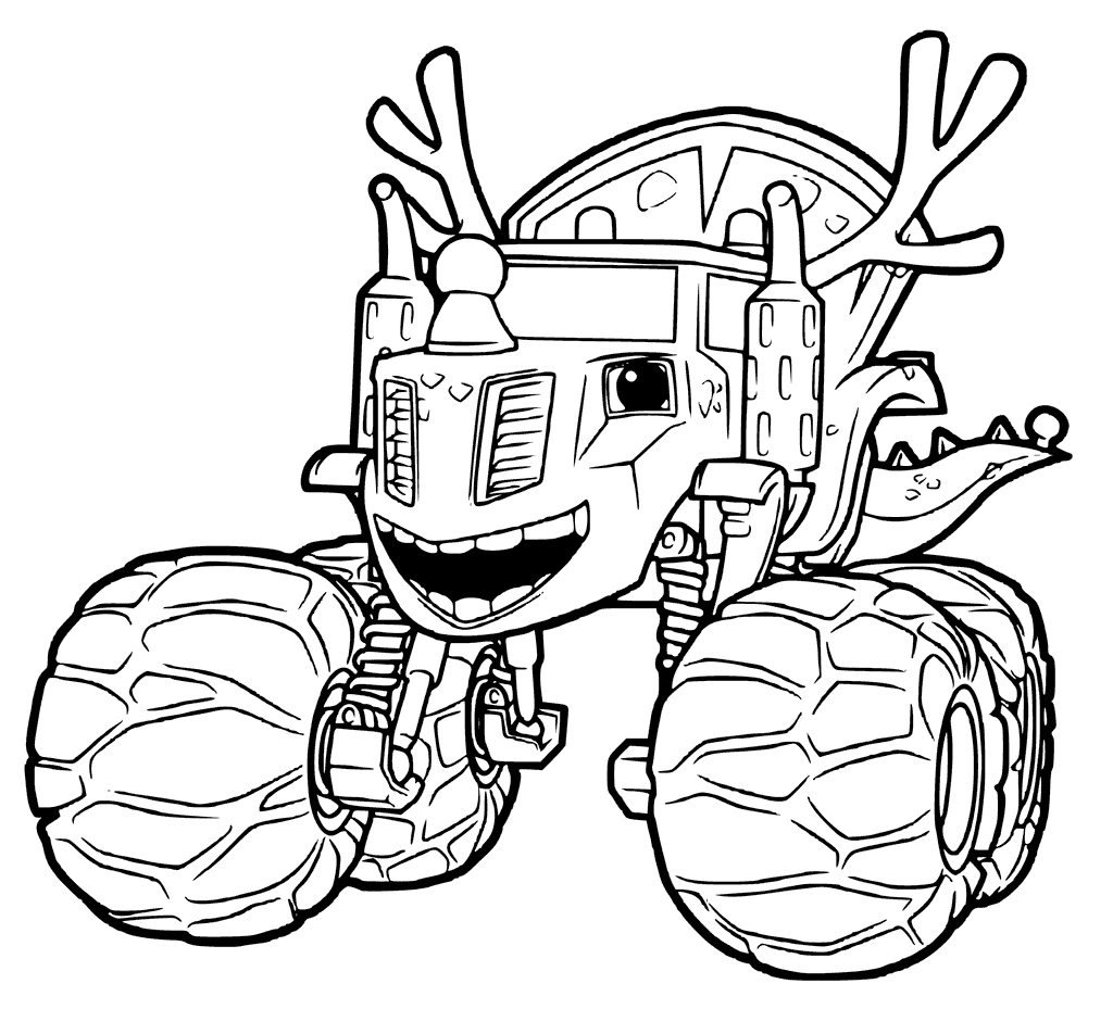 1024x929 Blaze And The Monster Machines Coloring Pages