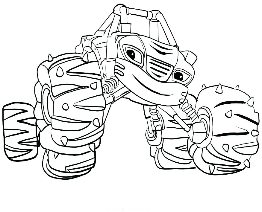 875x709 Blaze And The Monster Machines Coloring Pages Crusher Elegant